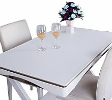 MEIE QIG Büro Tischdecke, Reine Farbe Kreative Buch Tisch Schreibtisch Schreibtisch Pad Schreibtisch Tischdecke Handel Wasserdichte Tischdecke Länge 120-160 cm (Farbe : Weiß, Größe : 70*130CM)