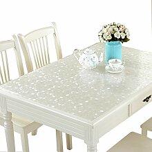 MEIE QIG Druck Tischdecke, Kunststoff Tischdecke Wasserdicht Wärme Beweis Weichglas Tischdecke Esstisch Tischdecke Länge 120-140 cm (Größe : 80*130CM)