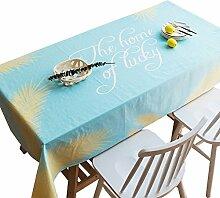 MEIE QIG Druck Tischdecke, Reine Farbe Pflanze Blumen Tischdecke Kreative Restaurant Esstisch Tischdecke Tuch Kunst Wohnzimmer Tischdecke 85-240 CM (Farbe : Blau, größe : 140*140CM)