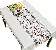 MEIE QIG Esstisch Tischdecke, Druck Blending Couchtisch Tischdecke Blumen Tischdecke Pflanze Restaurant Tischdecke Breite 100-140 cm (Farbe : Pink, Größe : 180*130CM)