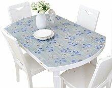 MEIE QIG Hitzebeständige Tischdecke, Plastikdrucken-kreativer Speisetisch-Kristallplatten-Hitze-Beweis-Muster PVC-Tischdecken-Länge 120-130CM (Farbe : #2, Größe : 86*138CM)