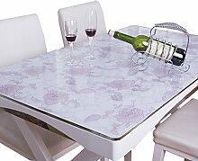 MEIE QIG Kreative Tischdecke, Drucken Esstisch Restaurant Tischdecke Wohnzimmer Tischdecke Kristall Platte Wasserdichte PVC Tischdecke Länge 120-160 CM (Farbe : B, größe : 85*140CM)