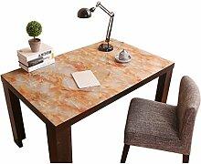 MEIE QIG Kunststoff Tischdecke, Büro Kreative Tischdecke Wohnzimmer Esstisch Kreative Marmor Muster Tischdecke Länge 120-140 cm (Farbe : A, Größe : 80*140CM)