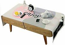 MEIE QIG Multifunktions Tischdecke, Rechteck haben Taschen Tischdecke Wohnzimmer Couchtisch Tischdecke kreative Tuch Kunst Tischdecke Länge 170-190 cm (größe : 60*170CM)