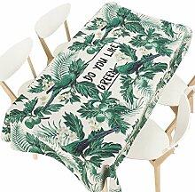 MEIE QIG Pflanze Tischdecke, Blätter Esstisch Restaurant Druck Wohnzimmer Tischdecke Blumen Kreative Tischdecke Länge 85-240 CM (Farbe : B, größe : 140*200CM)