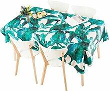 MEIE QIG Pflanze Tischdecke, Blumen Blätter Wohnzimmer Druck Tischdecke Kreative Tischdecke Reine Farbe Restaurant Esstisch Tischdecke Länge 85-240 CM (Farbe : B, größe : 110*110CM)