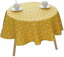 MEIE QIG Polygonale Muster Tischdecke, Kaffeetisch Tischdecke Pflanze Esstisch Tischdecke Blumen Streifen Tischdecke Länge 100-150 cm (Größe : 140*140CM)