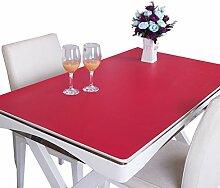 MEIE QIG Reine Farbe Tischdecke, Kreative Buch Tisch Handel Tischset Schreibtisch Tischdecke Büro Schreibtisch Schreibtisch Pad Tischdecke Länge 120-160 CM (Farbe : Rot, größe : 80*120cm)