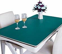 MEIE QIG Reine Farbe Tischdecke, Kreative Buch Tisch Handel Tischset Schreibtisch Tischdecke Büro Schreibtisch Schreibtisch Pad Tischdecke Länge 120-160 CM (Farbe : Grün, größe : 85*140CM)