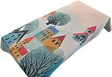 MEIE QIG Restaurant Tischdecke, Esstisch Kreative Tuch Kunst Tischdecke Blumen Rechteck Tischdecke Druck Wohnzimmer Tischdecke 85-240 cm (Farbe : A, Größe : 110*170CM)