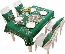 MEIE QIG Stoff Kunst Tischdecke, Wohnzimmer Druck Couchtisch Tischdecke Retro Wasserdicht Wärme Beweis Esstisch Tischdecke Länge 100-200 cm (Größe : 140*140CM)
