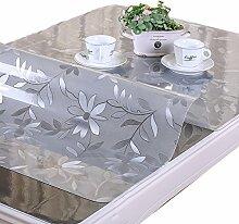 MEIE QIG Transparente Tischdecke, Mattiert Druck Tischdecke Wasserdicht Wärme Beweis Öl-Beweis Tischdecke Esstisch Tischdecke Länge 130-160 CM (Farbe : C, größe : 80*130CM)