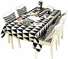 MEIE QIG Tuch Kunst Tischdecke, Wohnzimmer Restaurant Esstisch Tischdecke kreative Muster Streifen Tischdecke Länge 85-230 cm (größe : 140*230CM)