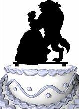 Meijiafei Beauty and Monster Wedding Aceylic Cake