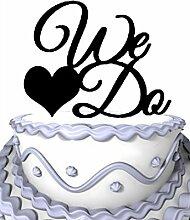 meijiafei Hochzeit Cake Topper, kursiv Wir mit
