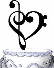 Meijiafei Music Note Silhouette Wedding Cake