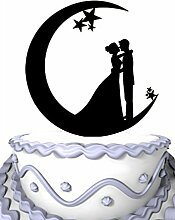 Meijiafei Wedding Cake Topper - Bride and Groom