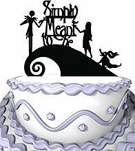 Meijiafei Wedding Cake Topper - Jack and Sally