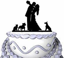 Meijiafei Wedding Cake Topper - Kissing Bride and