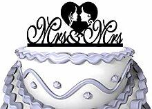 Meijiafei Wedding Cake Topper - Mrs & Mrs