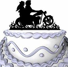 Meijiafei Wedding Cake Topper - Script Mr & Mrs