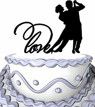 Meijiafei Wedding Cake Topper - Tango Couple