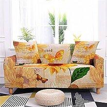 Meiju Sonnenblume Bedruckte Sofabezug - Elastische