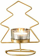 MEIKONG Kerzenständer, Metall Stern Runde