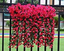 MEILI FLOWER Emulation decke Orchidee violett Decke und Wand - Blume rattan Blume emulation Blume wand Dekoration und Balkongeländer Kraftheber