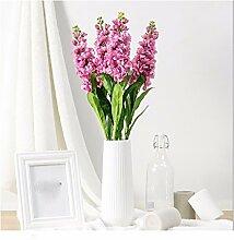 MEILI FLOWER Fake Blume Calla Künstliche Blumen Dekoration Salon Dekoration Simulation Violett 1 Bund, Rosa