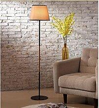 MEILING Modern, Stehlampe, Wohnzimmer, Einfach, Nordeuropa, Mode, Holzstamm, Lampenschirm, Wohnzimmer, Lichter, Studie, Warm