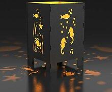 MEILLER MetallDesign Feuerkorb UNTER Wasser |