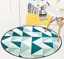 Meilunmeihuan@ Geometrische Runder Teppich für Wohnzimmer Home Schlafzimmer Teppiche Computer Stuhl Boden Teppich Kinder spielen Zelt Matte Teppich, C, 120 cm Durchmesser