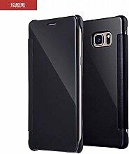 Meimeiwu Mirror Effect Flip Hülle Luxus Electroplate Spiegel Mirror Ultra Dünn Schutzhülle Bumper Case Cover für OnePlus 3 - Schwarz