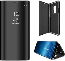 Meimeiwu Spiegel Schutzhülle Clear View Protective Flip Hülle Case Cover für Samsung Galaxy S9 - Schwarz