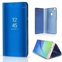 Meimeiwu Spiegel Schutzhülle Clear View Protective Flip Hülle Case Cover für HuaWei P10 Lite - Blau