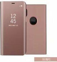 Meimeiwu Spiegel Schutzhülle Clear View Protective Flip Hülle Case Cover für iPhone X - Rose Gold