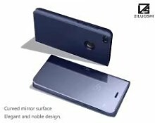 Meimeiwu Spiegel Schutzhülle Clear View Protective Flip Hülle Case Cover für HuaWei P9 Lite 2017 - Blau