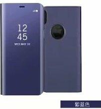 Meimeiwu Spiegel Schutzhülle Clear View Protective Flip Hülle Case Cover für iPhone X - Lila