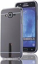 Meimeiwu TPU Spiegel Hülle Mirror Case Schutzhülle Silikon Case Schlank Handy Cover für Samsung Galaxy J5 - Schwarz