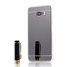 Meimeiwu TPU Spiegel Hülle Mirror Case Schutzhülle Silikon Case Schlank Handy Cover für Samsung Galaxy A5 2016 A510F - Schwarz