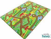 Mein Dorf HEVO® Strassen Spielteppich | Kinderteppich 200x300 cm
