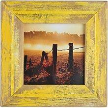 Mein Landhaus Bilderrahmen Gelb 15X15