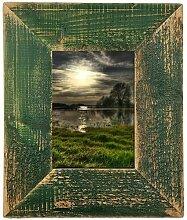 Mein Landhaus Bilderrahmen Grün Leiste 7cm 15X20