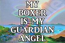 Mein Schutzengel ist ein Boxer Hund - Jumbo Magnet/Jubiläum