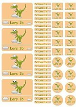Mein Zwergenland Namensaufkleber Stickerbogen Dino