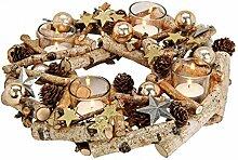 meindekoartikel Adventskranz Dekokranz dekoriert