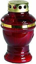 meindekoartikel - Grabkerze Grablicht Rot mit