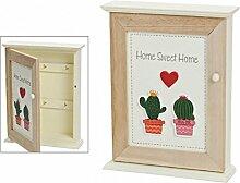 meindekoartikel Schlüsselkasten Kaktus Home Sweet