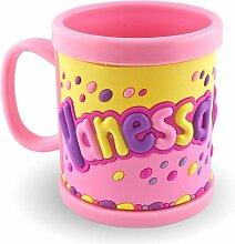 Meine Namenstasse 3D Becher Vanessa rosa für Kinder Kunststoff Tasse Trinkbecher
